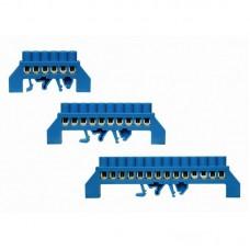 """Шина нульова (заземлення) в ізоляторі на DIN-рейку типу """"Місток"""", ШНІ (місток) 10 отворів"""
