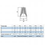 Ковпачек ізоляційний (скрутка кабельна), СІЗ Р72, 1.0-1.5 кв.мм, синій
