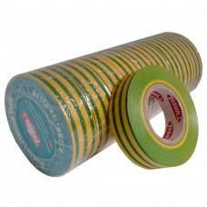 Стрічка ізоляційна PVC, жовто-зелена, 10 м.