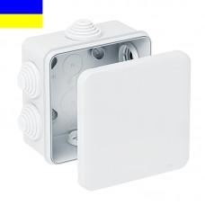 Коробка розподільча КР, 70х70х40, ІР65, біла