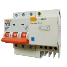 Вимикач диференційного струму ВА1-63, 3P, 20А, 30мА