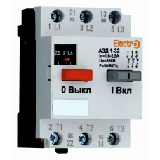 Автоматический выключатель защиты двигателя АЗД 1-32   1,6А