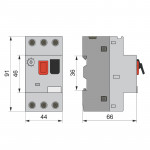 Автоматичний вимикач захисту двигуна АЗД1-80, 0.63А