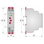 Реле контролю напруги однофазне, РКН8-211