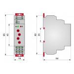 Реле контролю напруги трифазне, РКН8-212