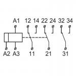 Реле проміжне, РКН8-183, 3 групи