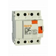 Пристрій захисного відключення УЗО1-63, 4P, 25А, 300мА