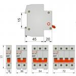 Вимикач навантаження модульний, ВН1-32, 2п, 20A