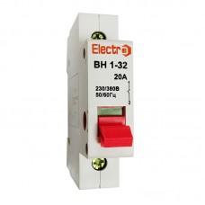 Вимикач навантаження модульний, ВН1-32, 1п, 32A