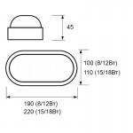 Світильник LED накладний серії TS-CLL (овал), 18 Вт, 4200K