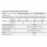 Світильник LED накладний серії TS-CLL (овал), 15 Вт, 4200K