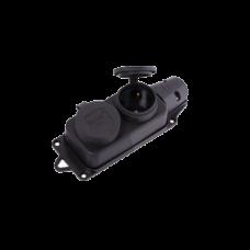 Розетка двомісна з заглушками, РС-К1122, 2х2P+PE, 16А, 250В, IP44