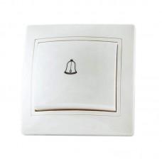 """Кнопка """"дзвінок"""" прихованого монтажу, біла, 6А (250В)"""
