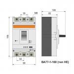 Автоматичний вимикач ВА77-1-160, 3п, 160А (тип HE)