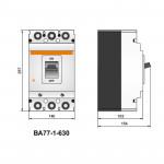 Автоматичний вимикач ВА77-1-630, 3п, 630А (тип HR)