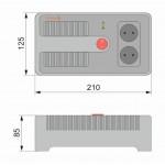 Електронний стабілізатор напруги НСТ-500 на 2 розетки