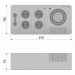 Електронний стабілізатор напруги НСТ-500 на 4 розетки