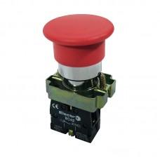 Кнопка нажимна PB2-ВС42, грибок без фіксації, 40 мм
