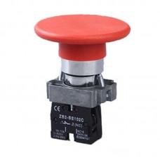 Кнопка нажимна PB2-ВС642, грибок без фіксації, 60 мм