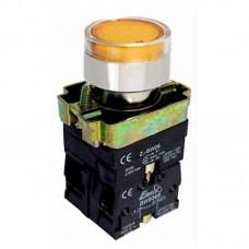 Кнопка нажимна з підсвіткою PB2-ВW3561, жовта