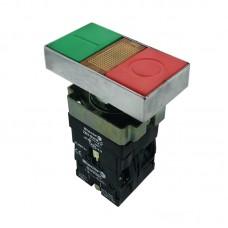 Кнопка нажимна з підсвіткою PB2-ВW8365, зелена+червона