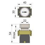 Кнопка нажимна PB2-ВА3341, біла