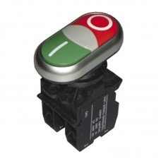 Кнопка нажимна без підсвітки PB2-LA32HND, зелена+червона