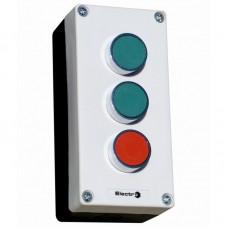 Пост кнопковий тримісний, зелена+зелена+червона