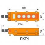 Пульт кнопковий тельферний, ПКТ 4 кнопки, IP65