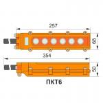 Пульт кнопковий тельферний, ПКТ 6 кнопок, IP65