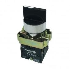 """Перемикач кнопковий двопозиційний """"І-ІІ"""", PB2-BD21, чорний"""
