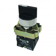 """Перемикач кнопковий трипозиційний """"І-0-ІІ"""", PB2-BD33, чорний"""