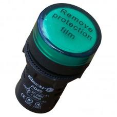 Світлосигнальний індикатор, AD22, 36В, зелений