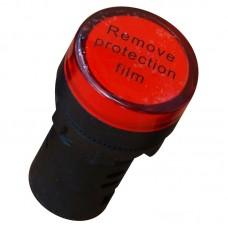 Світлосигнальний індикатор, AD22, 36В, червоний